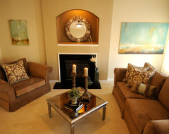 Staged and sold in less than one week traditional-living-room