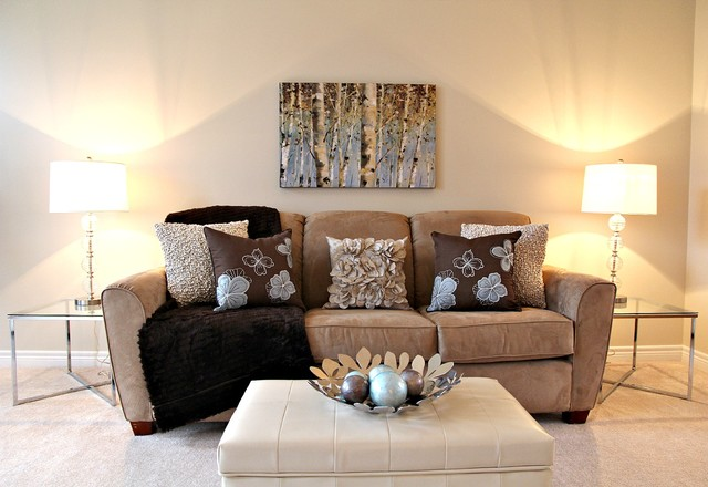 Staged Living Room Contemporary Living Room Toronto By Feels Magnificent Living Room Staging