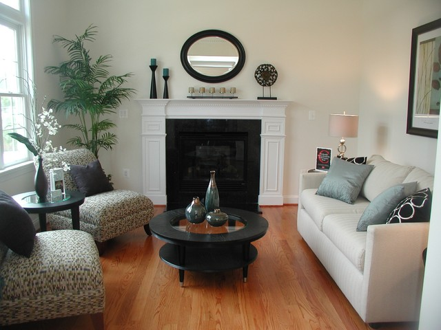 Staged rooms for Staged living room ideas