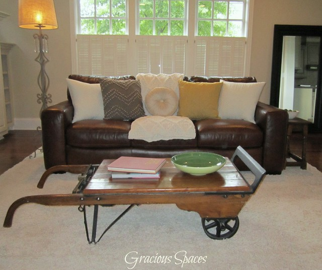 Staged Serene Living Room