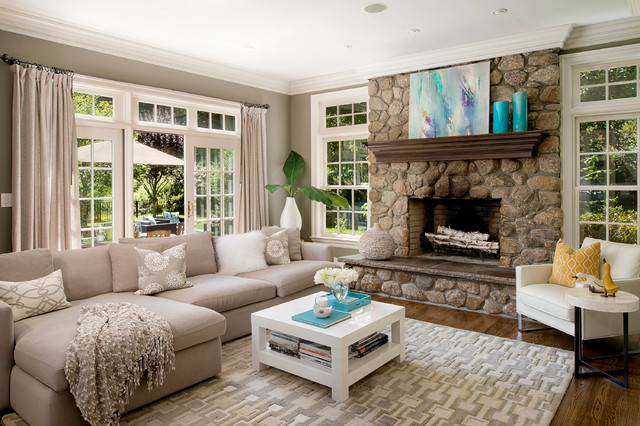staging traditional living room new york by en vue