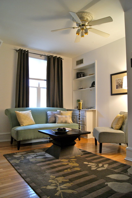 Staging in an small space - Small living room space image ...