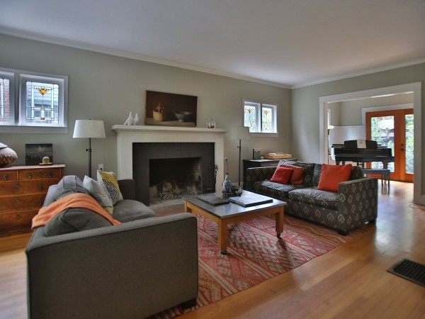 Staging, Portland, OR eclectic-living-room