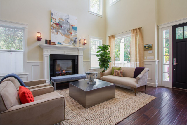 Inspiration for a transitional living room remodel in Los Angeles
