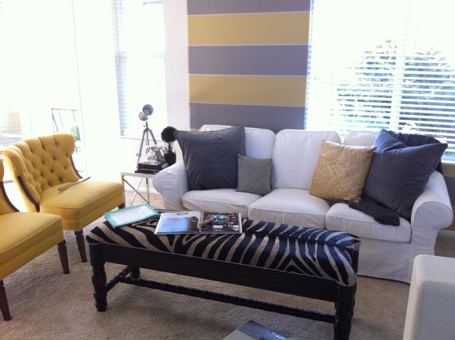 Staging Yellow contemporary-living-room
