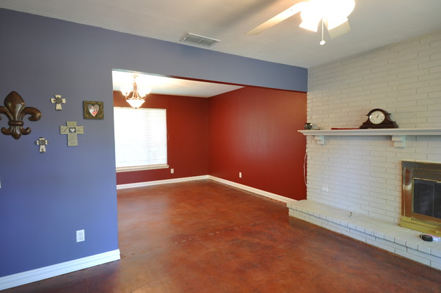 Stained Concrete Traditional Living Room Other Metro By Fresh Coat Painters Of Allen