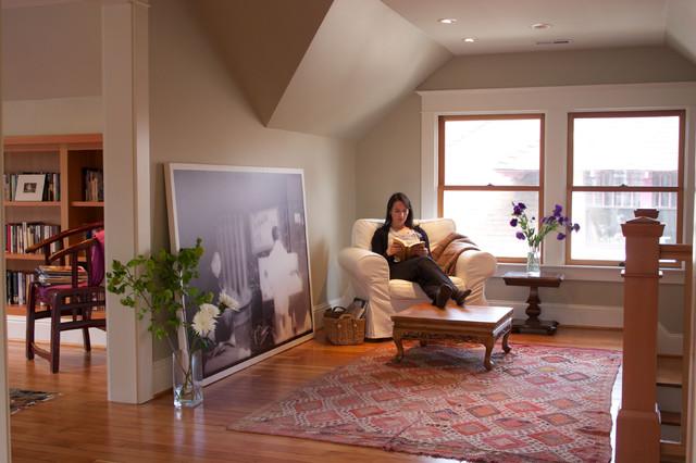 Stairway Nook eclectic-living-room