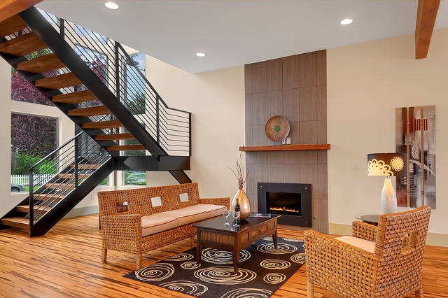 Stairwell Sitting Area Contemporary Living Room Seattle By Sundodger Llc