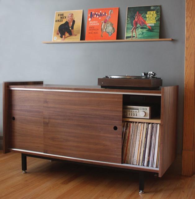 Standard Audio Credenza and Record Rail - Midcentury ...