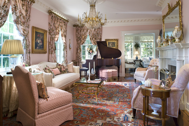 stately manor - Traditional - Living Room - other metro - by Diane Burgoyne Interiors
