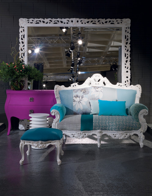 Statement pieces - a way with colour. Baroque inspired modern living room contemporary living room