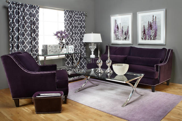 Statement Shade Chic Contemporary Living Room