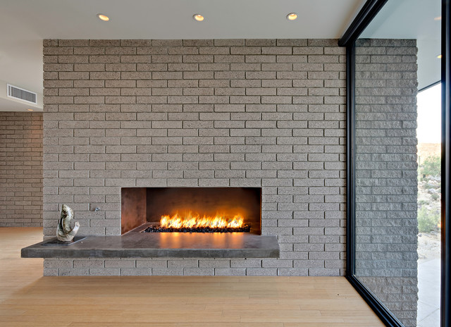 steel fireplace box for gas or wood modern living room