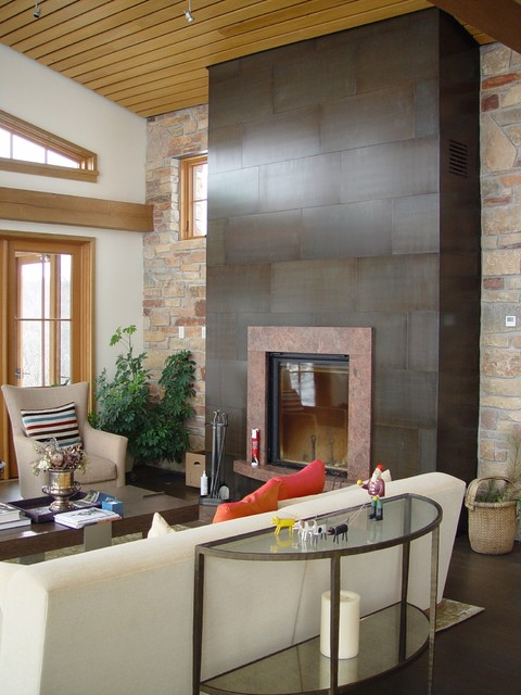 Steel Fireplace Surround @ Living Room (Madison, WI ...