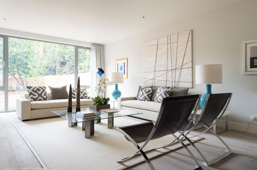 Photo by greenauer design group look for contemporary living room pictures