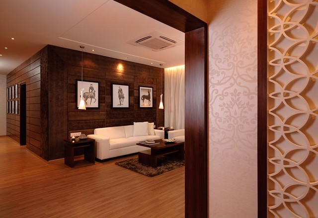 STHAPATI'S INTERIORS contemporary-living-room