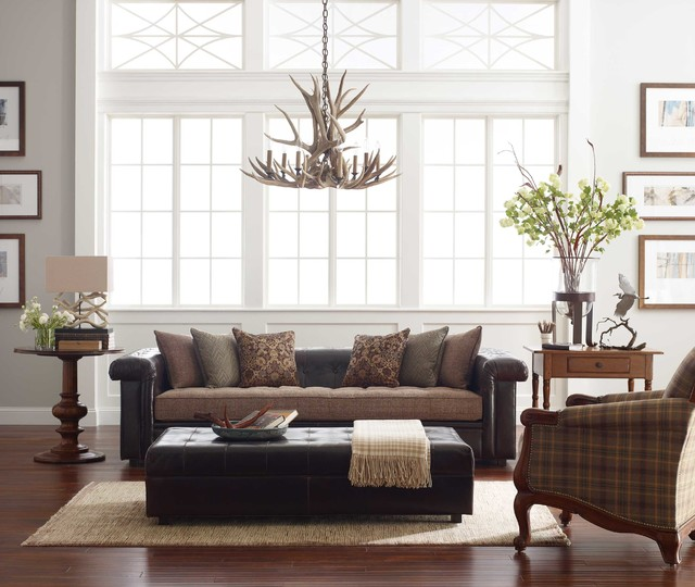 Stickley Fine Upholstery & Leather Collection transitional-living-room