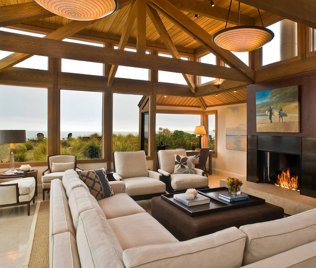 Stinson Beach Retreat contemporary living room