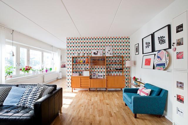Stockholm, Sweden retro-vardagsrum