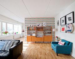 Stockholm, Sweden midcentury-living-room