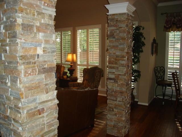 Stone columns for Living room columns