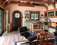 Stone Cottage rustic-living-room