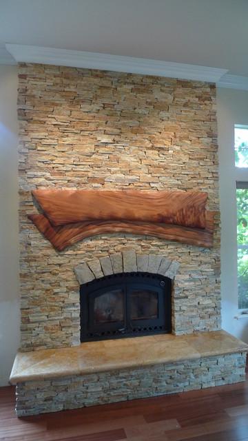 Stone Fireplace Face