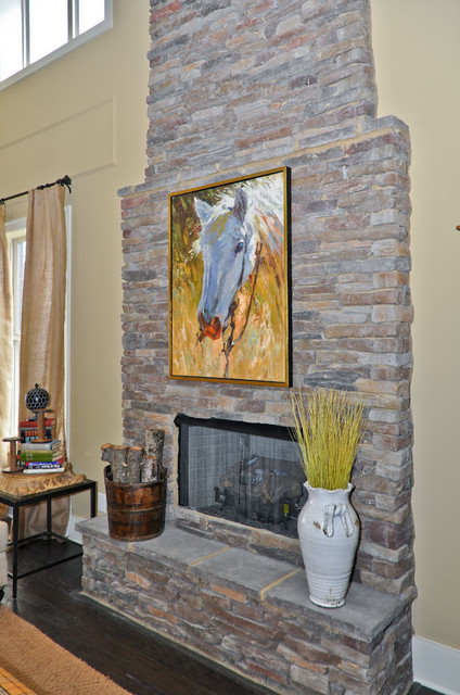 Stone Fireplace living-room