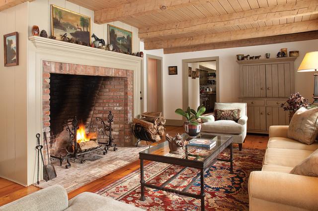 Stone Ridge Farmhouse Living Room New York By Kyle