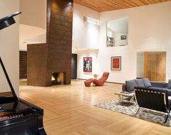 STonehedge Exteriors contemporary-living-room
