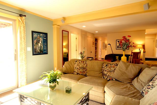 Stony Point Craftsman Timber Frame craftsman-living-room