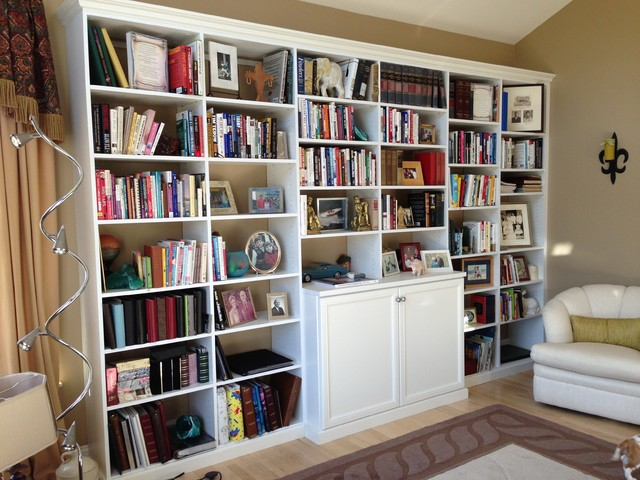 Storage Wall Units Traditional Living Room
