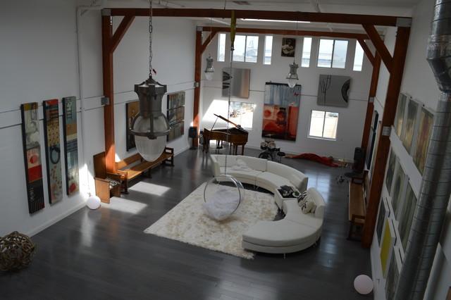 Strand Eucalyptus Slate: 860 Innes industrial-living-room