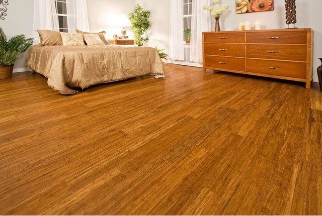 Strand Woven Bamboo Flooring Traditional Living Room