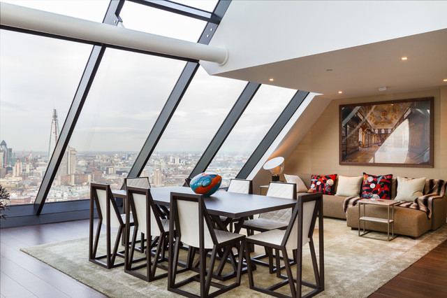 Strata Tower contemporary living room