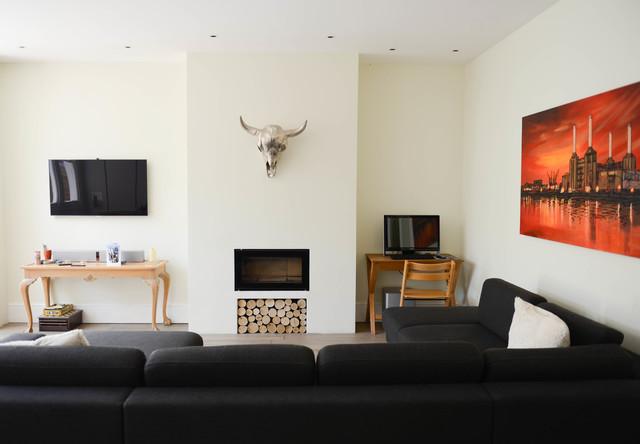 Streatham hill london contemporaneo soggiorno for Case in stile williamsburg
