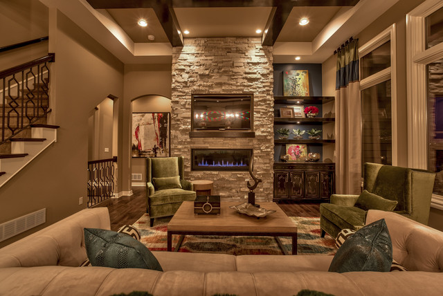 Street of Dreams 2013 - Transitional - Living Room - Omaha - by Falcone Homes