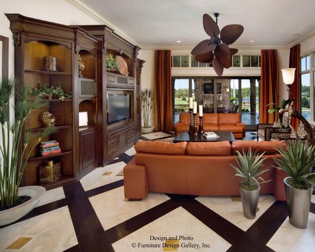 Street Of Dreams Lake Mary Florida Tropical Living Room