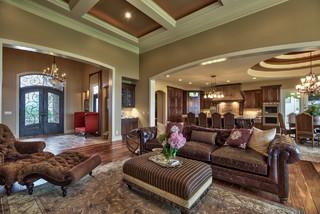 Street Of Dreams Tuscan Villa Mediterranean Living Room Omaha By Inspired Interiors