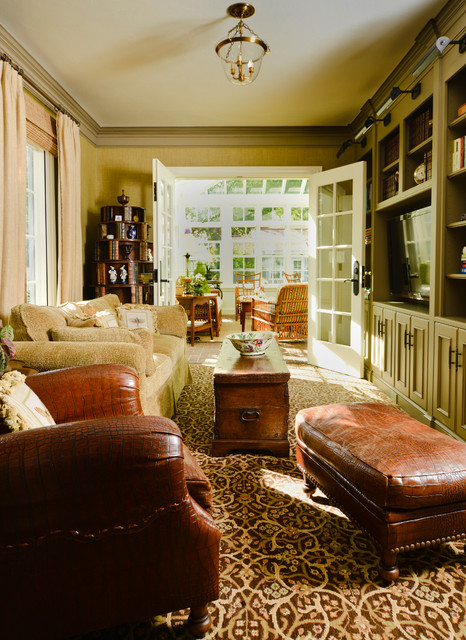 stucco tudor cottage craftsman living room san francisco by