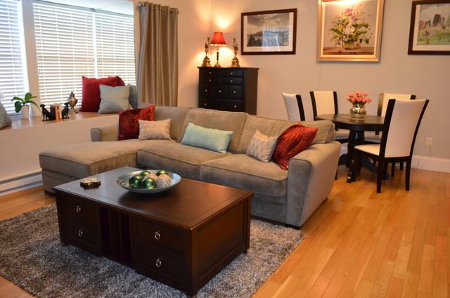Studio Apartment Design Contemporary Living Room New