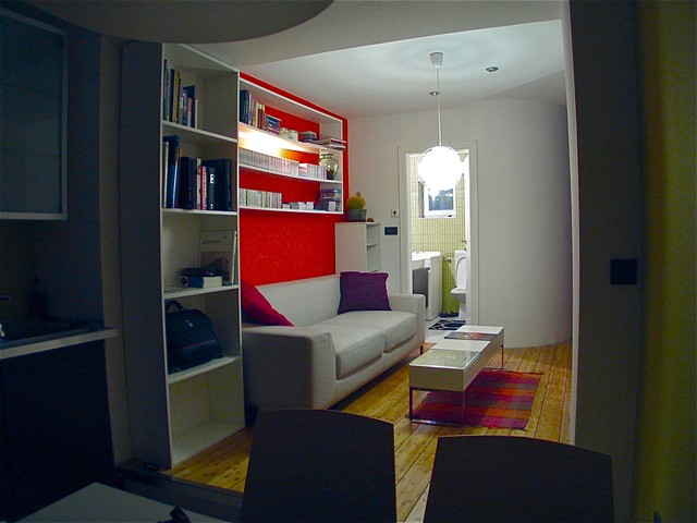 Studio apartment contemporary-living-room