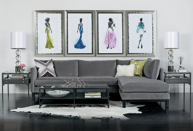 Studio en vogue farrell sectional modern living room houston by high fashion home for Modern living room furniture houston tx