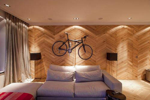 【Houzz】スポーツ用自転車を家の中に収納・保管する5つのアイデア 9番目の画像