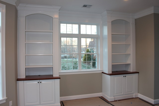 Study Home Office Built Ins Traditional Boston By