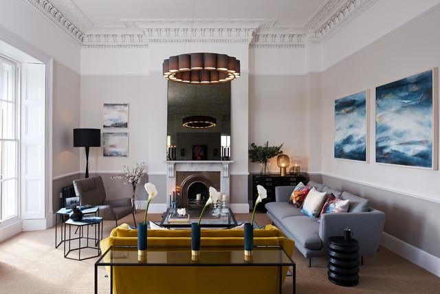 charming georgian living room furniture   Stunning Georgian Apartment by Furnish Interior Design in ...