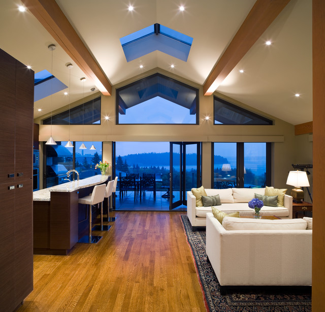 Stunning West Vancouver Custom Home Contemporary Living Room