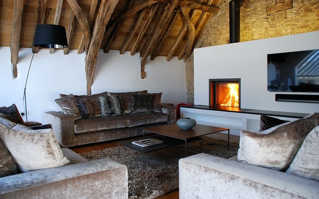 Stuv 21/75 - Rustic - Living Room - Cornwall - by Kernow Fires and ...
