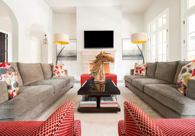 Stylish Comfort: Living Room Transitional Living Room