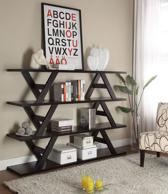 Stylish Display Stand in Cappuccino 26277 Modern Living